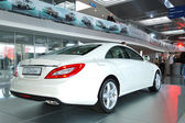 KIEV - SEPTEMBER 11: New generation of the Mercedes-Benz CLS-cla — Stock Photo