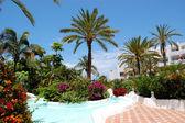 Recreation area of luxury hotel, Tenerife island, Spain — Stock Photo