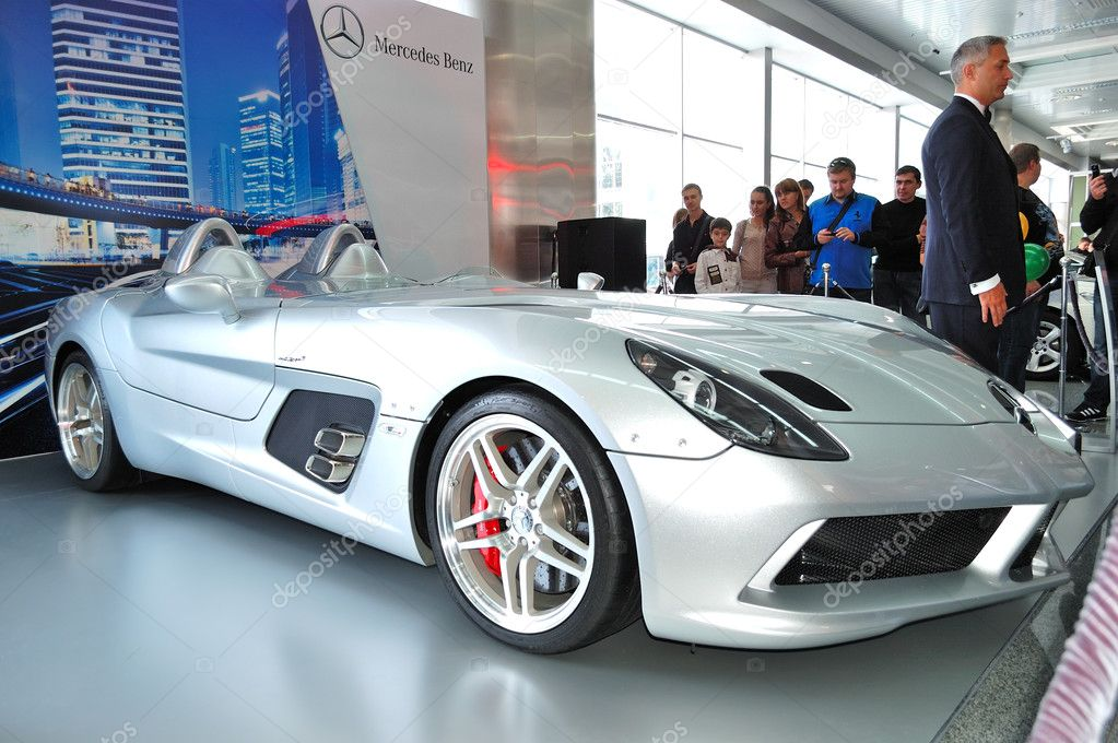 KIEV - SEPTEMBER 11: Mercedes-Benz SLR McLaren Stirling Moss at Yearly automotive-show Capital auto show 2011. September 11, 2011 in Kiev, Ukraine.  Stock Photo #9019667