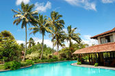 The restaurant at swimming pool, Bentota, Sri Lanka — Stock Photo
