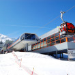 JASNA-MARCH 15: Cableway station in Jasna Low Tatras. It is the - Stock Photo