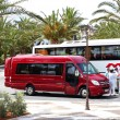CRETE ISLAND, GREECE - MAY 13: The modern bus for tourists trans — Stock Photo #9757784