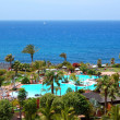 Beach and swimming pool at the luxury hotel, Tenerife island, Sp — Stock Photo #9985775