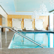 Modern SPA in the luxury hotel at ski resort, Strbske pleso, Slo - Stock fotografie