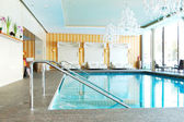 Modern SPA in the luxury hotel at ski resort, Strbske pleso, Slo — Foto de Stock