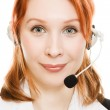 Beautiful business woman with headset — Stock Photo #9691444