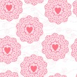 Romantic seamless pattern with heart - Stock Vector