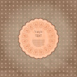 Scrapbook-style retro background or greeting card with stained p - Stock Vector