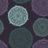 Retro background, lace seamless pattern, ornate endless texture — Vector de stock