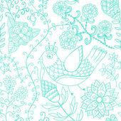 Texture transparente avec fleurs et papillons. pa floral sans fin — Vecteur