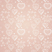 Hearts seamless pattern, romantic hearts seamless background — Stock Vector