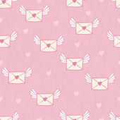 Seamless pattern with post letters. Love mail. — Stok Vektör