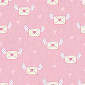 Patrones sin fisuras con letras de correos. correo de amor. — Vector de stock