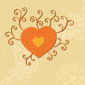 涂鸦的心 — 图库矢量图片
