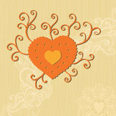 Doodle Heart — Vetor de Stock