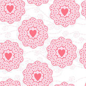 Romantic seamless pattern with heart — Vector de stock