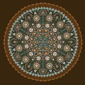 Ornamentali tondo traforati, sfondo cerchio con molti detai — Vettoriale Stock