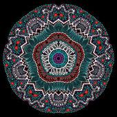 Ornement rond point ajouré, fond de cercle avec beaucoup de detai — Vecteur