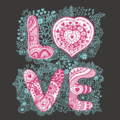 "The word ""love"".Romantic background — Stockvector"