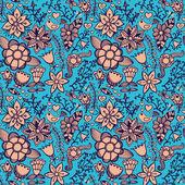 Floral de patrones sin fisuras, textura interminable con flores. ba Vector — Vector de stock