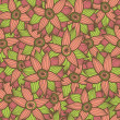 Seamless texture with flowers.Endless floral pattern — Stockvektor
