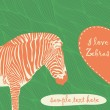 Royalty-Free Stock Imagen vectorial: Zebra with place for text