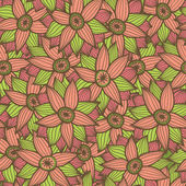 Seamless texture with flowers.Endless floral pattern — 图库矢量图片