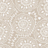 Retro background, lace seamless pattern, ornate endless texture — Stock Vector