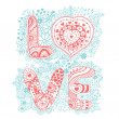 The word love.Romantic background — Stock Vector