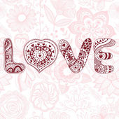 "The word ""love"".Romantic background — Stock Vector"