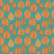 A seamless pattern with leaf,autumn leaf background — Stock Vector #8130385
