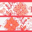 Floral banners, stylish floral banners, set of four horizontal, — Vettoriale Stock