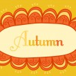 Abstract frame for your text. Autumnal theme header. Vector bann — Stock Vector