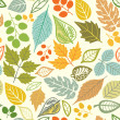 A seamless pattern with leaf,autumn leaf background — Stock Vector #8130653