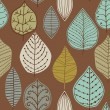A seamless pattern with leaf,autumn leaf background — Stock Vector