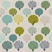 Tree seamless pattern — Stock Vector