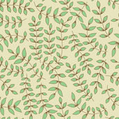 Seamless leaf pattern. Seamless pattern can be used for wallpape — Stock Vector