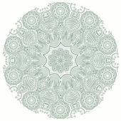 Okrasné kruhové krajky pattern, kruh pozadí s mnoha detaily, vypadá l — Stock vektor