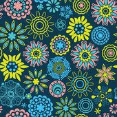 Sierlijke floral naadloze textuur, eindeloze patroon met bloemen loo — Stockvector
