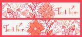 Floral banner, stilvolle floral banner, satz der vier horizontal, — Stockvektor