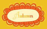 Abstract frame for your text. Autumnal theme header. Vector bann — Stock Vector