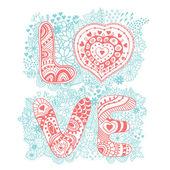 """Il parola """"amore"""".romantic sfondo — Vettoriale Stock"""
