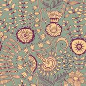 Nahtlose textur mit blumen und schmetterlingen. endlose floral pa — Stockvektor