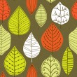 A seamless pattern with leaf,autumn leaf background — Stock Vector #8204258