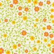 Seamless floral pattern.Endless texture with small daisy. — Stockvektor
