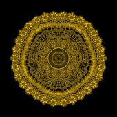 Okrasná kola krajky pattern, kruh pozadí s mnoha detai — Stock vektor
