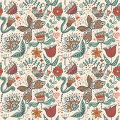 Sem costura padrão floral, textura infinita com flores. ba de vetor — Vetorial Stock