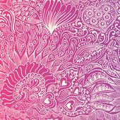 Vis naadloze patroon, eindeloze abstracte doodle patroon — Stockvector