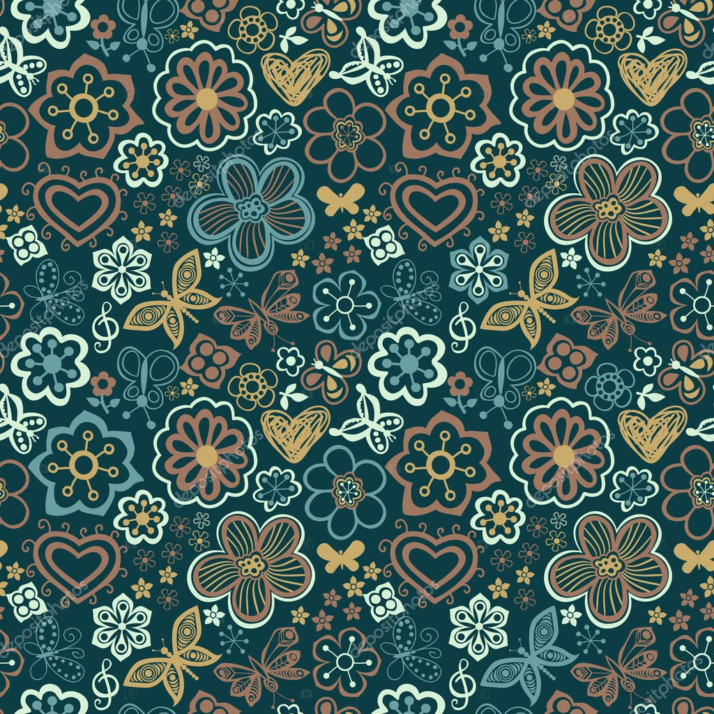 Floral seamless texture  Vettoriali Stock  #8249833