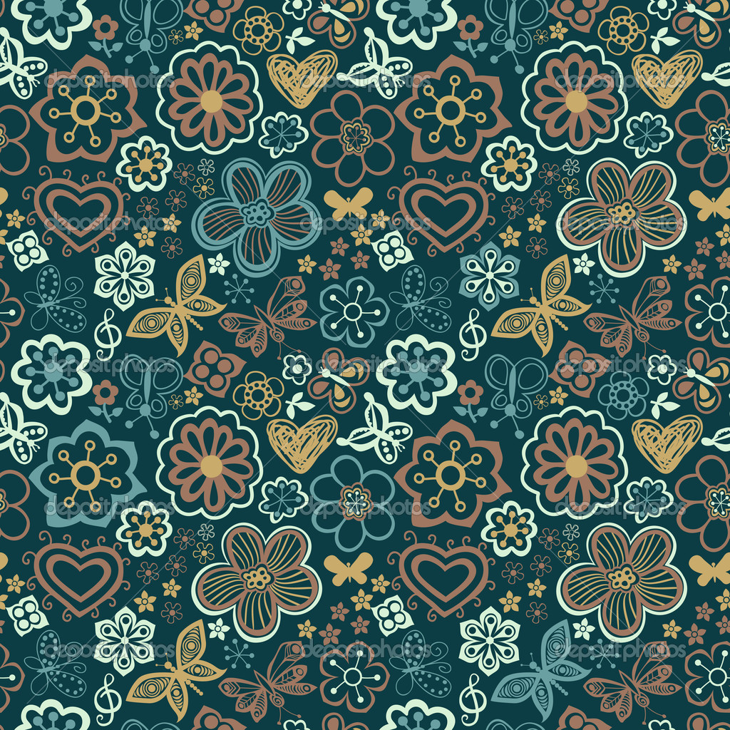 Floral seamless texture  Stok Vektr #8249833